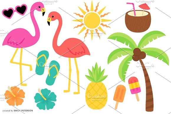 Tropical clipart ~ Illustrations Clipart Tropical Market