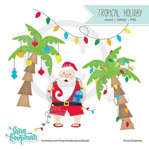 Tropical clipart christmas tree #8