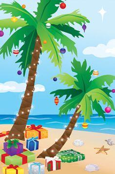 Tropical clipart christmas tree #9