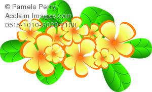 Yellow Flower clipart hawaiian A Flowers Art Element Design