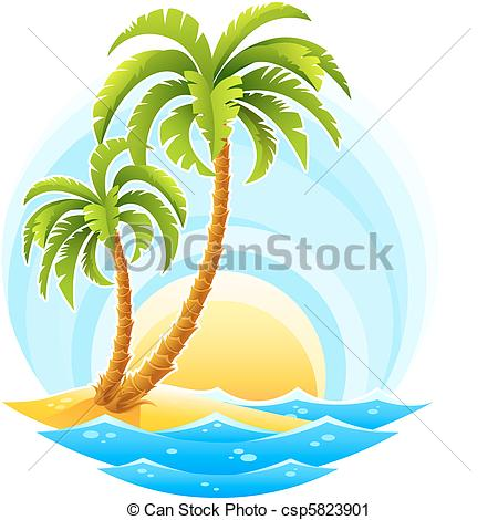 Tropical clipart tropical background #3