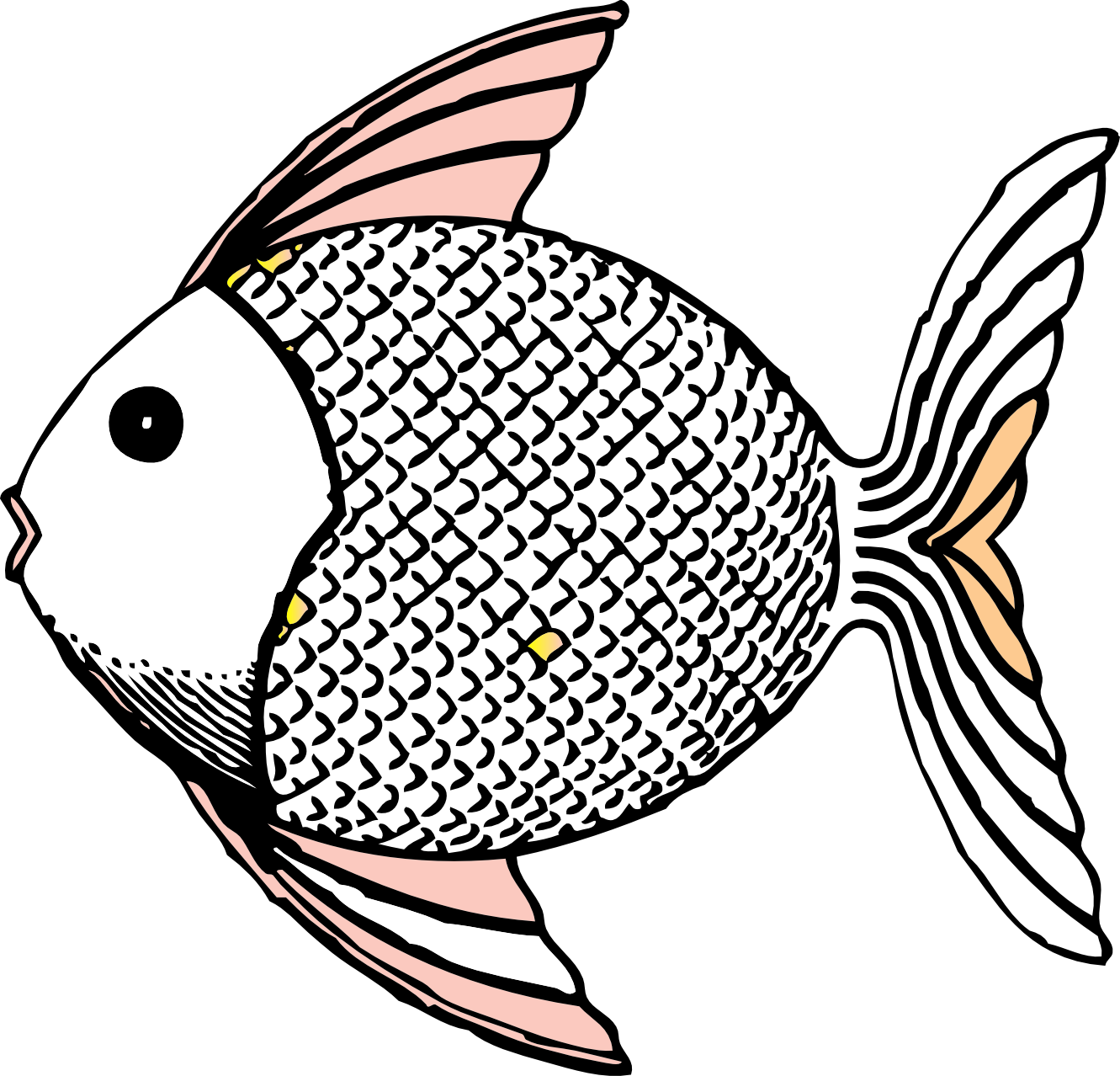 Drawn island black and white Clipart Art Fish Clip Panda