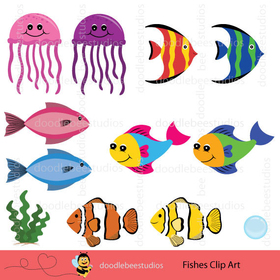 Tropical Fish clipart different fish #1