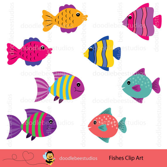 Tropical Fish clipart different fish #3