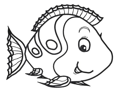 Tropical Fish clipart fish face #9