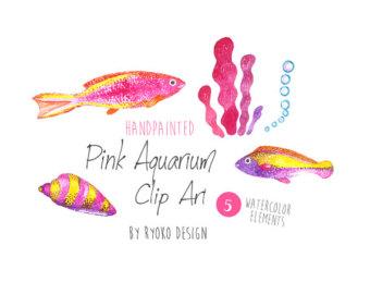 Tropical Fish clipart pink fish #9