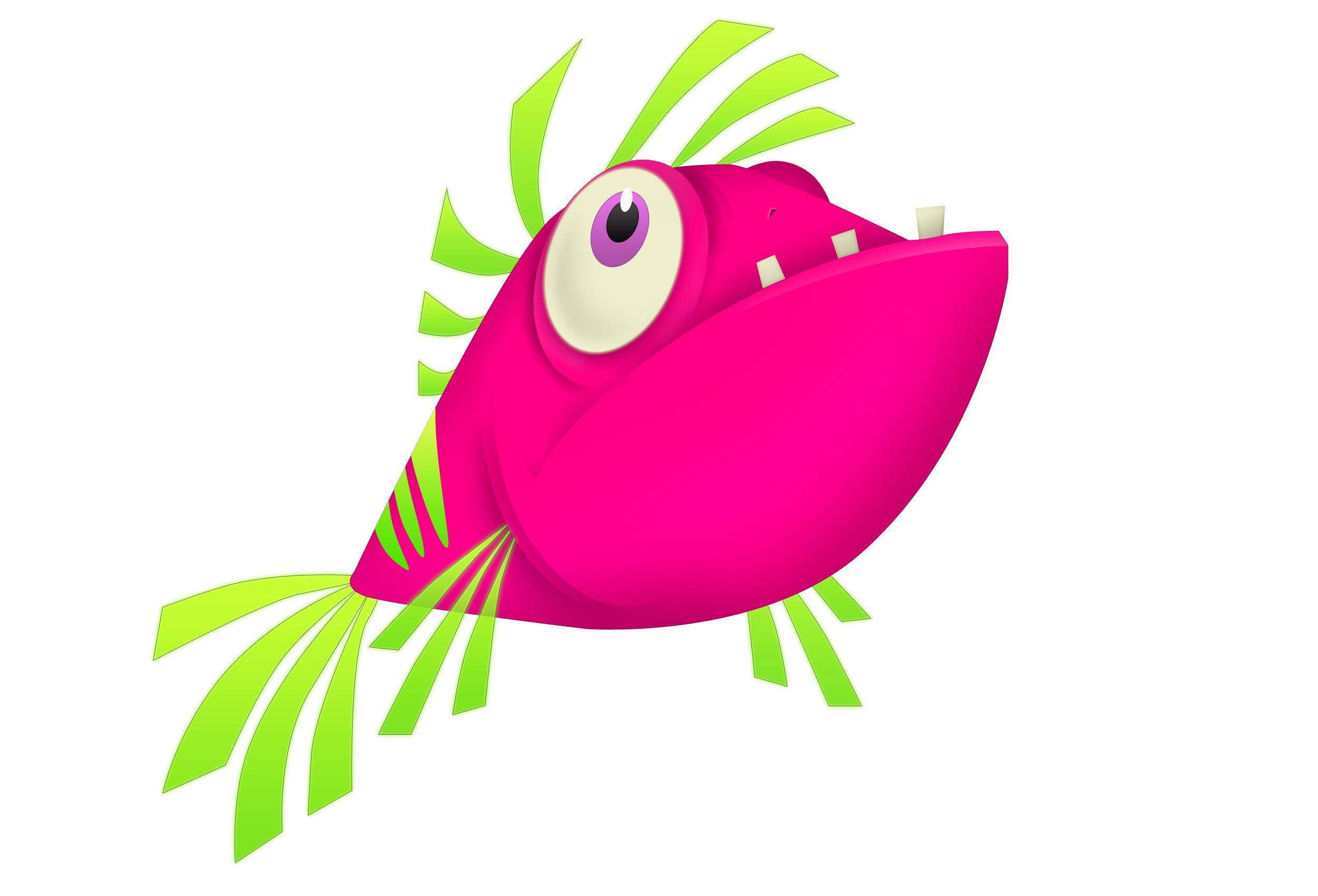Tropical Fish clipart pink fish #4