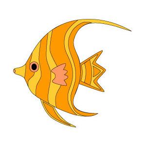 Salmon clipart orange fish #1
