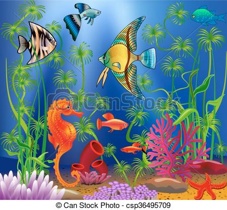 Seascape clipart underwater #1