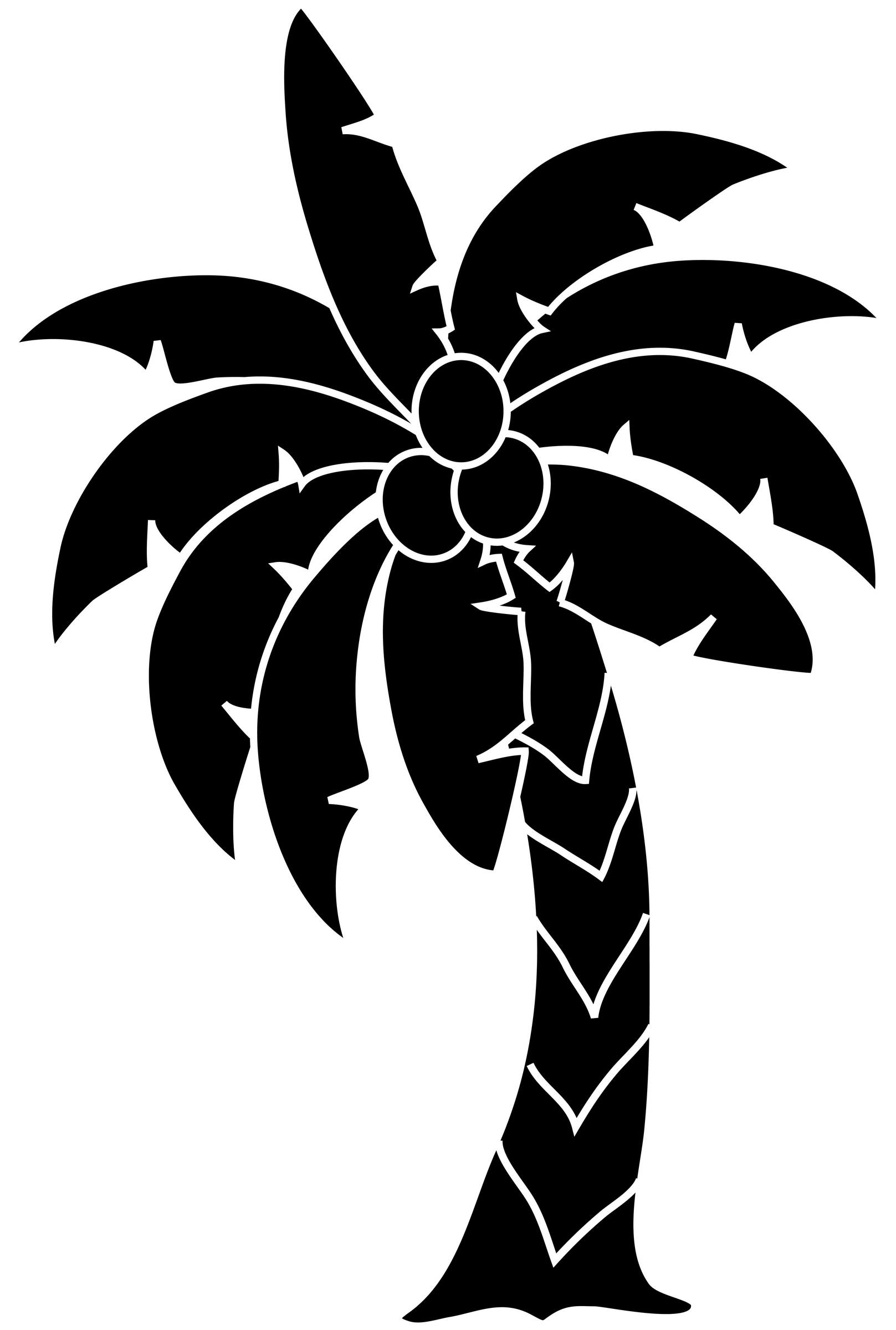 Tropical clipart black and white #13
