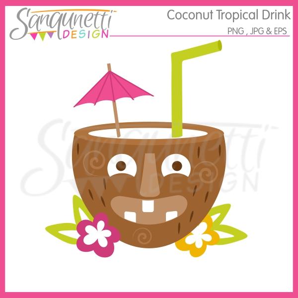 Tropics clipart coconut drink #5