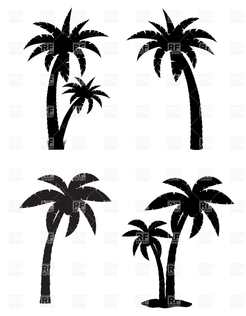 Black clipart coconut tree Clipart Coconut Tree Clipart Drawing