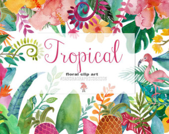 Tropics clipart colorful flower #13