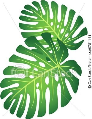 Tropical clipart green flower #7