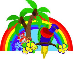 Scenery clipart tropical bird #1