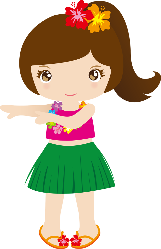 Tropical clipart hawaiian person #2