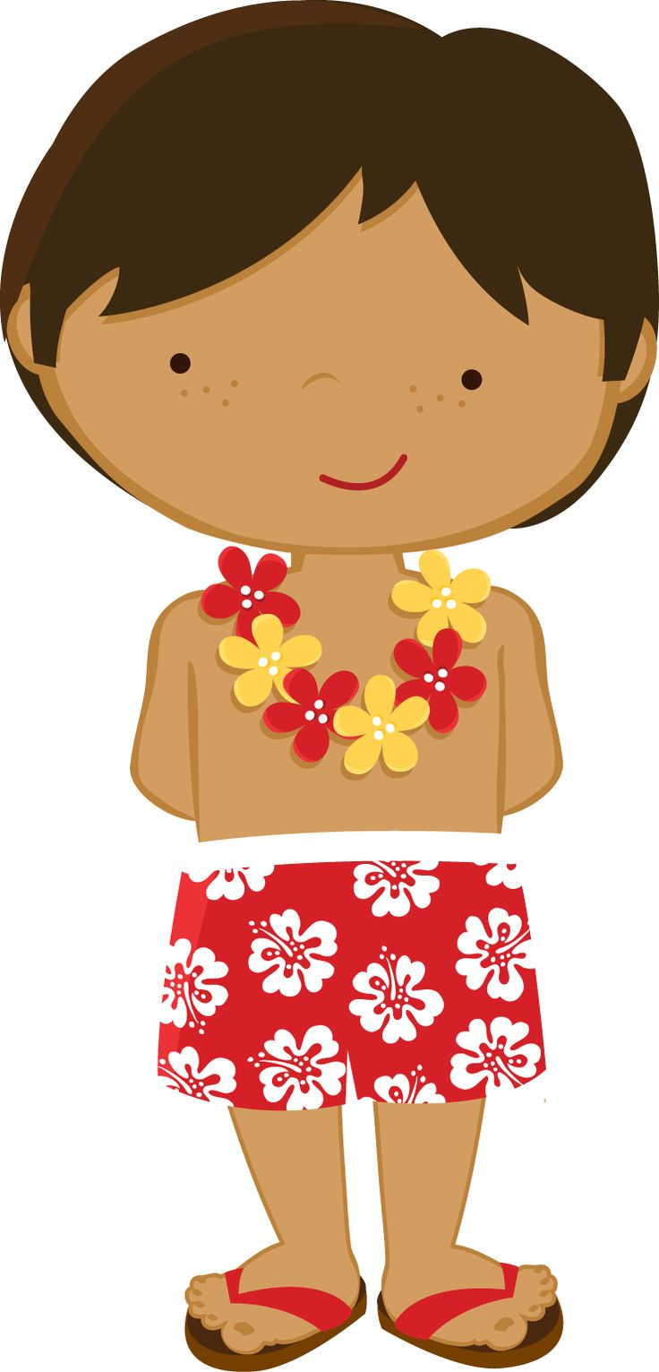 Tropical clipart hawaiian person #1