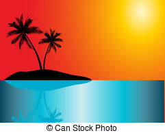 Eiland clipart tropical bird Clip trees 639 967; island