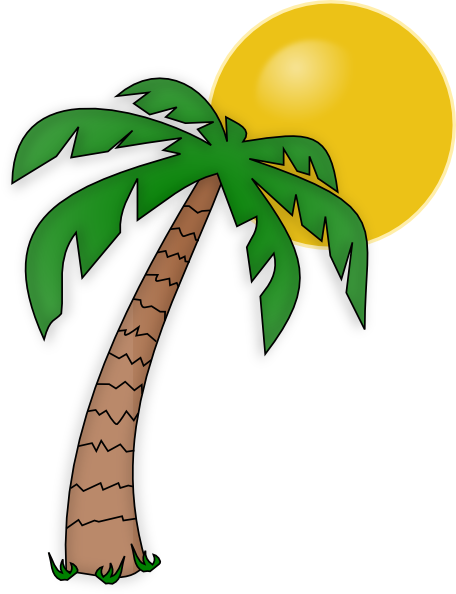 Palm Tree clipart curved Clipart palm Clip Tropical Clipart