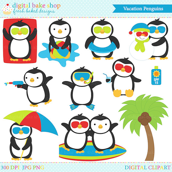 Vacation clipart next Pool Penguins In cliparts Penguin