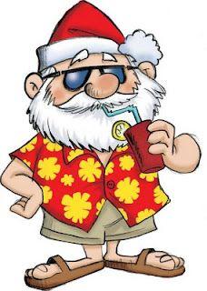 Merry Christmas clipart australian Beach more Relaxing Santa on