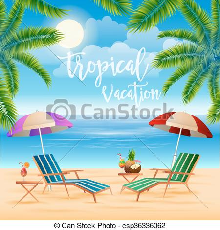 Vacation clipart paradise Clip Island of Palm Travel