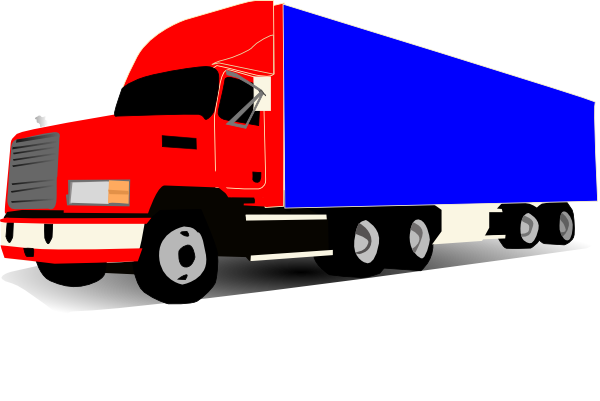 Red clipart semi truck #11