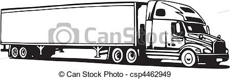 Drawn truck 18 wheeler Illustration Truck csp4462949 Search csp4462949