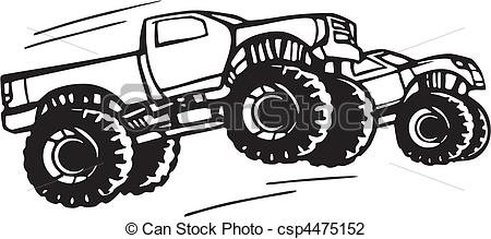 Truck clipart 4x4 truck Illustration Search of Truck csp4475152