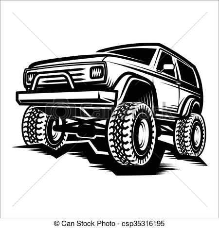Truck clipart 4x4 truck Of car of road truck
