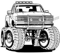 Truck clipart 4x4 truck Truck custom Truck one two