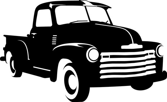 Chevrolet clipart antique truck On Silhouettes  Penny cutting