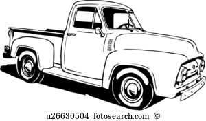 Classical clipart ford truck Black truck clipart and free