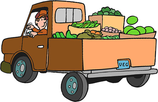 Moving clipart farmer Produce Truck Free Truck Clipart