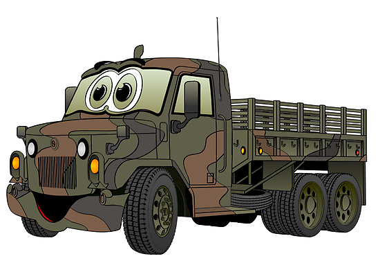 Truck clipart army truck Truck Clipart Vehicle cartoon clipart