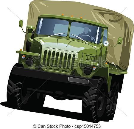 Truck clipart army truck Highway  illustration Vector highway