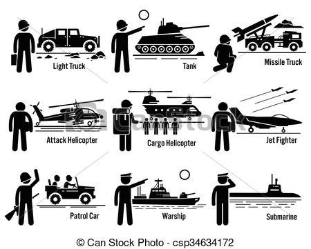 Truck clipart army truck Vehicles Vector Transportation of Illustration