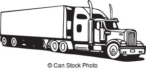 Truck clipart big rig Clipart Vector wheeler Illustration Truck