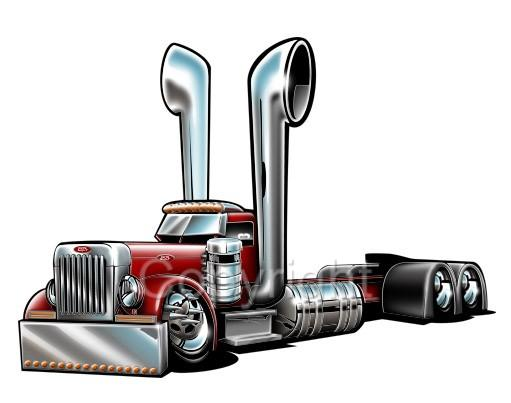 Truck clipart big rig Peterbilt Big Truck Art Semi