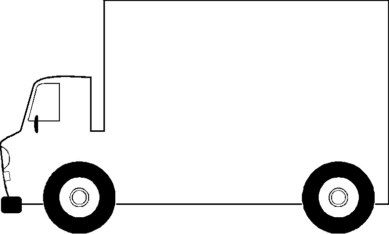 Black clipart lorry Black black images free 3