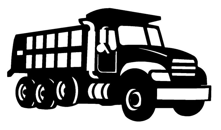 Black clipart lorry And Black Clipart Panda Dump