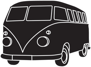 Vans clipart black and white Of Illustration a and Clipart