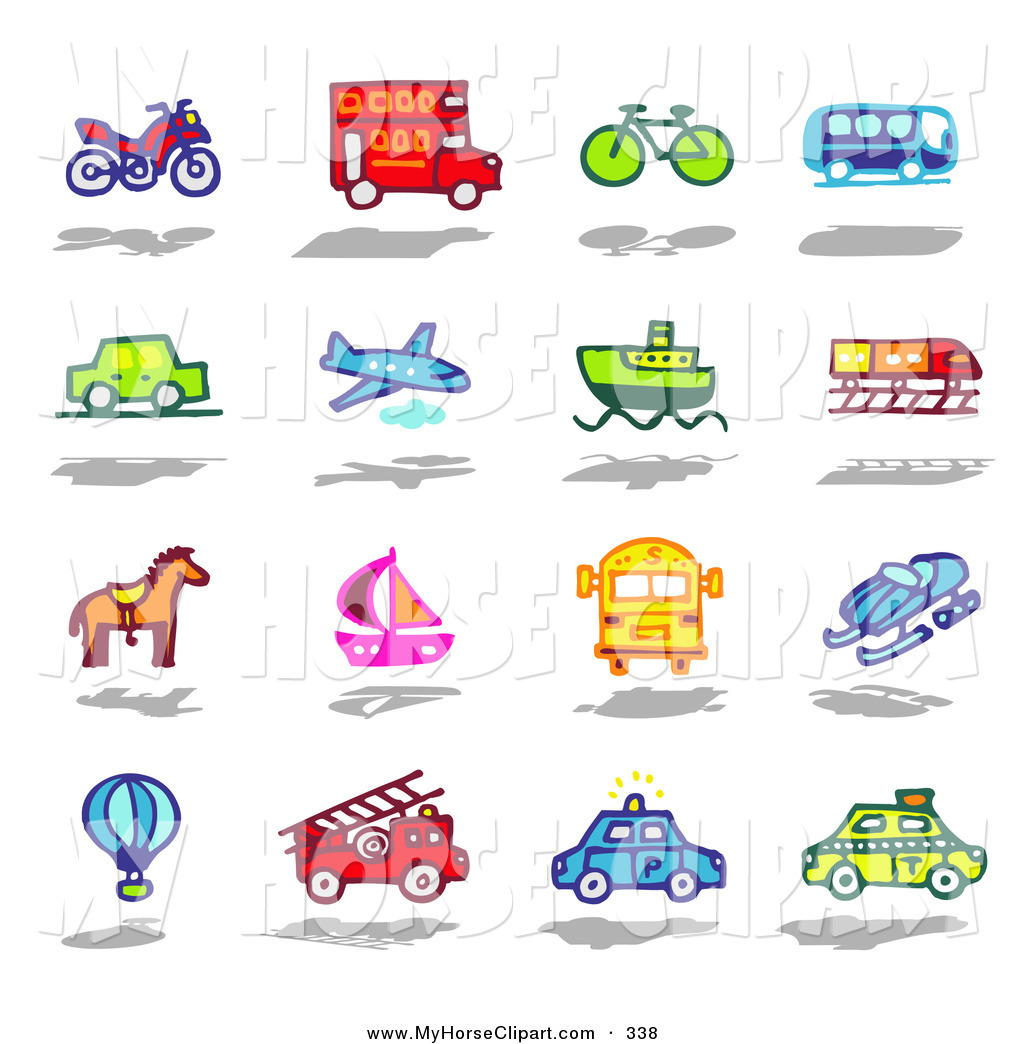 Boat clipart airplane Bus Bike Decker of Bus