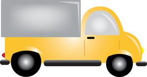 Truck clipart car truck Truck yellow art  yellow