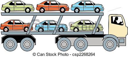 Truck clipart car truck Csp2268264 Vector truck carrier car