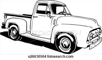 Truck clipart classic truck Collection pickup car clipart 1940