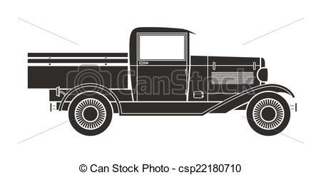 Truck clipart classic truck  vintage pickup pickup truck