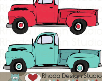 Camper clipart weekend activity Digital Art Full Stamp Truck