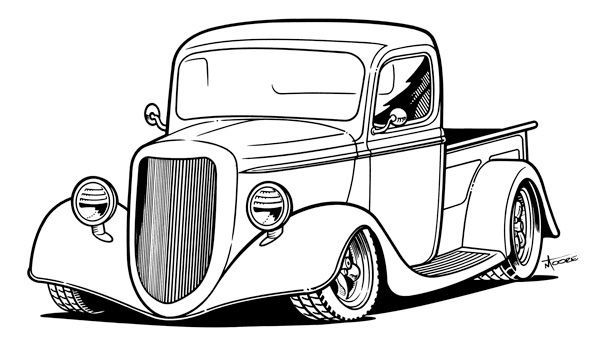 Classics clipart street rod Truck Old classic clipart collection