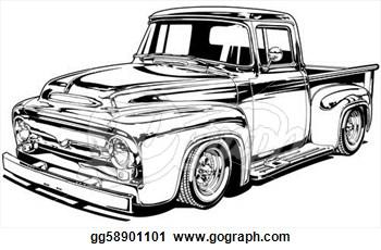 Truck clipart classic truck Trucks Truck Retro Pickup pickup